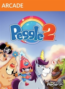 Front boxart of the game Peggle 2 (United States) on Microsoft Xbox 360