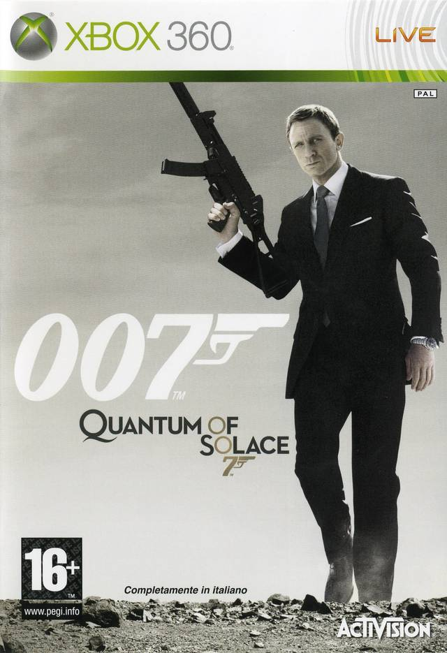 Front boxart of the game 007 - Quantum of Solace (Europe) on Microsoft Xbox 360