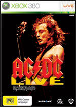 Front boxart of the game AC/DC LIVE - Rock Band Track Pack (Australia) on Microsoft Xbox 360