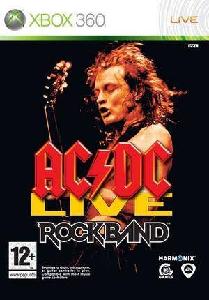 Front boxart of the game AC/DC LIVE - Rock Band Track Pack (Europe) on Microsoft Xbox 360