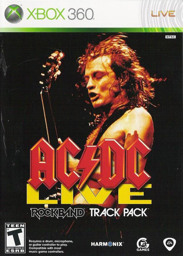 Front boxart of the game AC/DC LIVE - Rock Band Track Pack (United States) on Microsoft Xbox 360