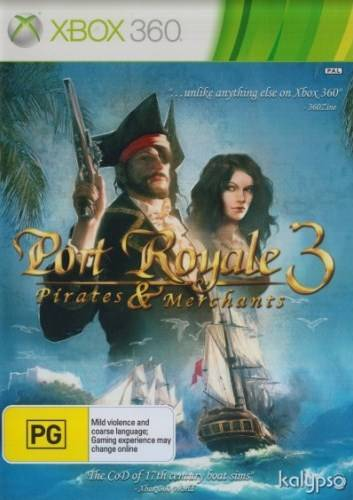 Front boxart of the game Port Royale 3 - Pirates and Merchants (Australia) on Microsoft Xbox 360