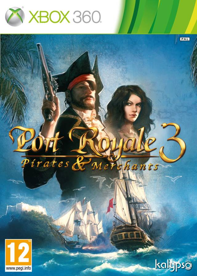 Front boxart of the game Port Royale 3 - Pirates and Merchants (Europe) on Microsoft Xbox 360