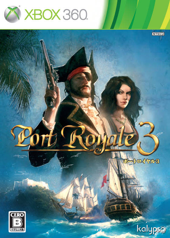 Front boxart of the game Port Royale 3 - Pirates and Merchants (Japan) on Microsoft Xbox 360