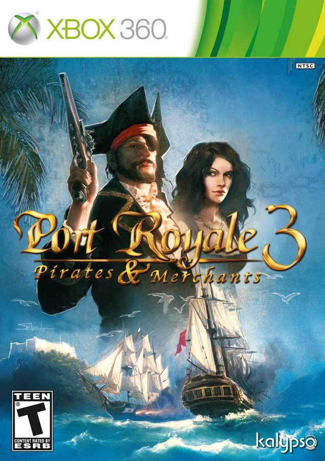 Front boxart of the game Port Royale 3 - Pirates and Merchants (United States) on Microsoft Xbox 360