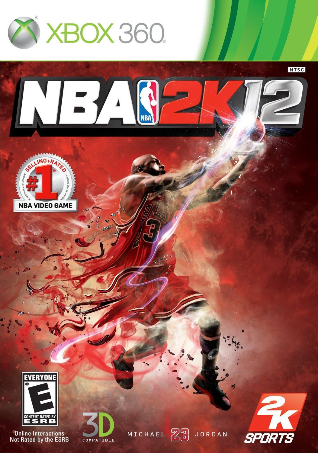 Front boxart of the game NBA 2K12 (United States) on Microsoft Xbox 360