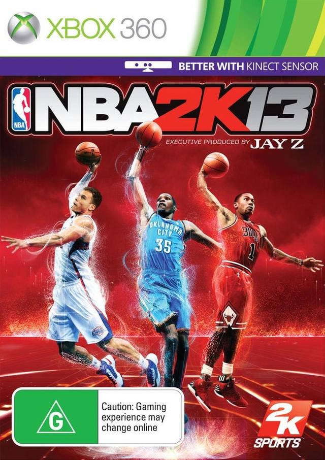 Front boxart of the game NBA 2K13 (Australia) on Microsoft Xbox 360
