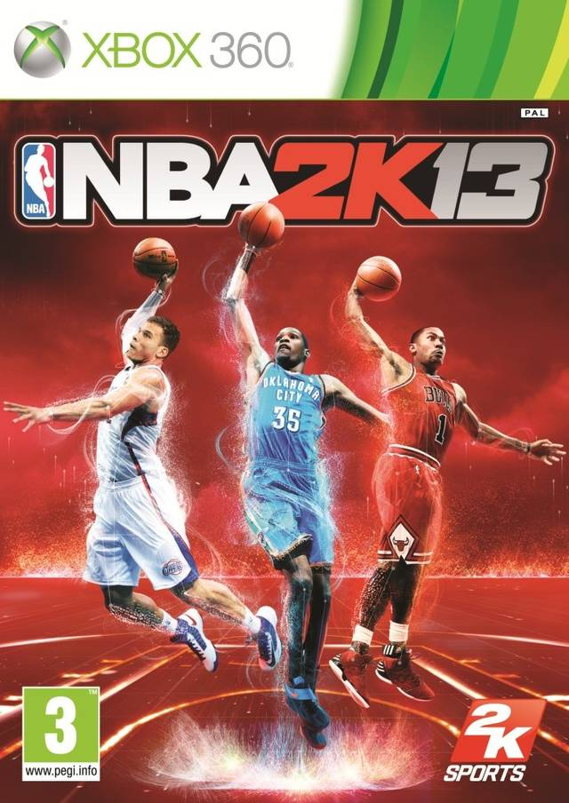 Front boxart of the game NBA 2K13 (Europe) on Microsoft Xbox 360