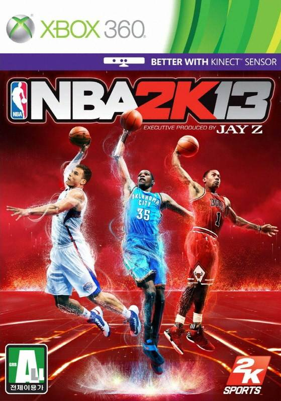 Front boxart of the game NBA 2K13 (South Korea) on Microsoft Xbox 360