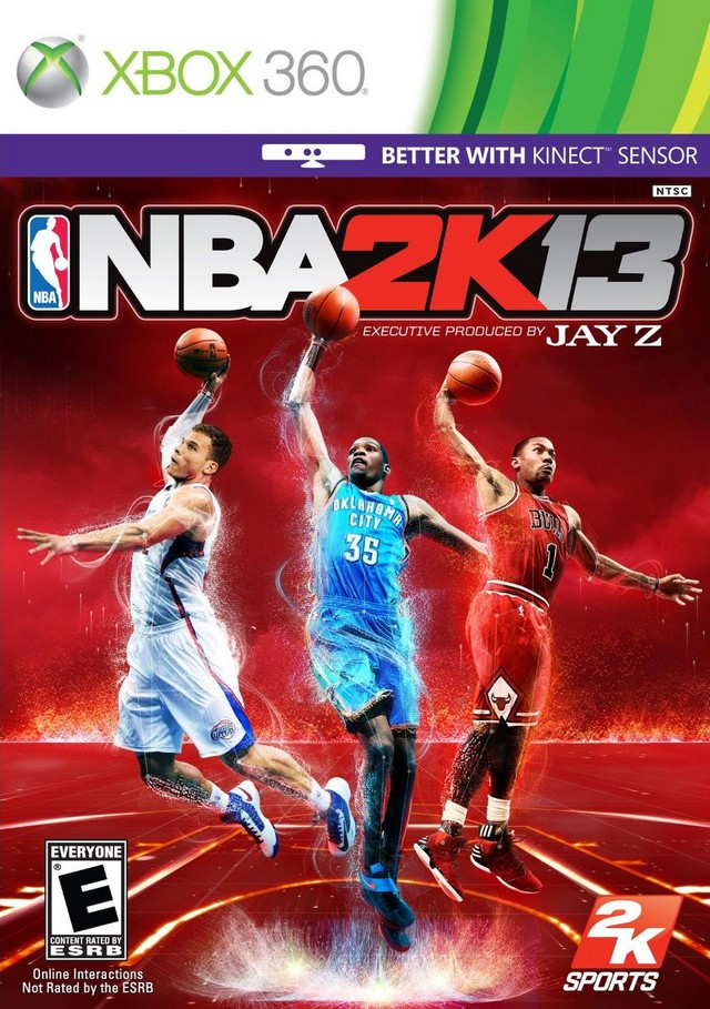 Front boxart of the game NBA 2K13 (United States) on Microsoft Xbox 360