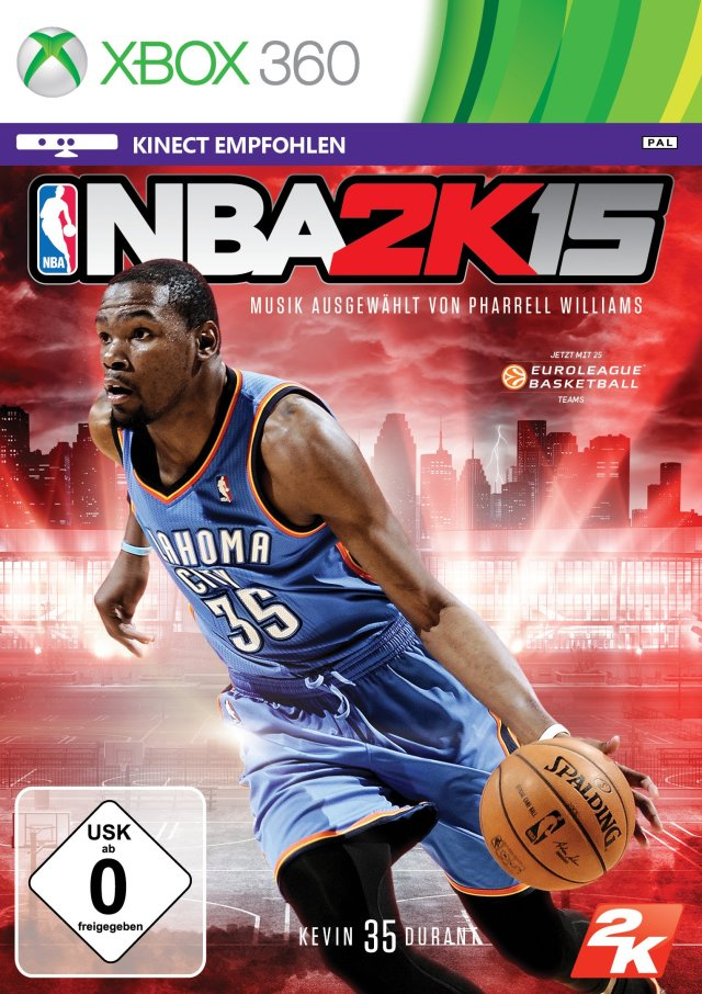 Front boxart of the game NBA 2K15 (Europe) on Microsoft Xbox 360