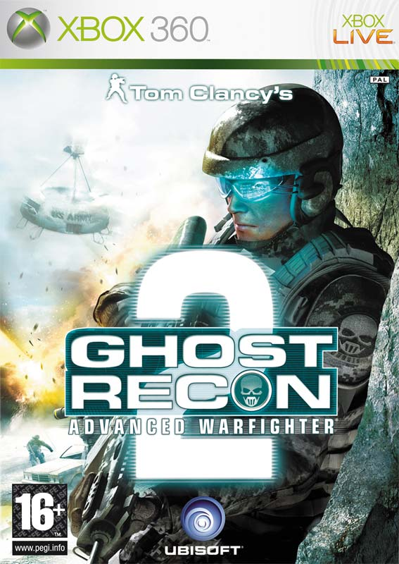 Front boxart of the game Tom Clancy's Ghost Recon Advanced Warfighter 2 (Europe) on Microsoft Xbox 360