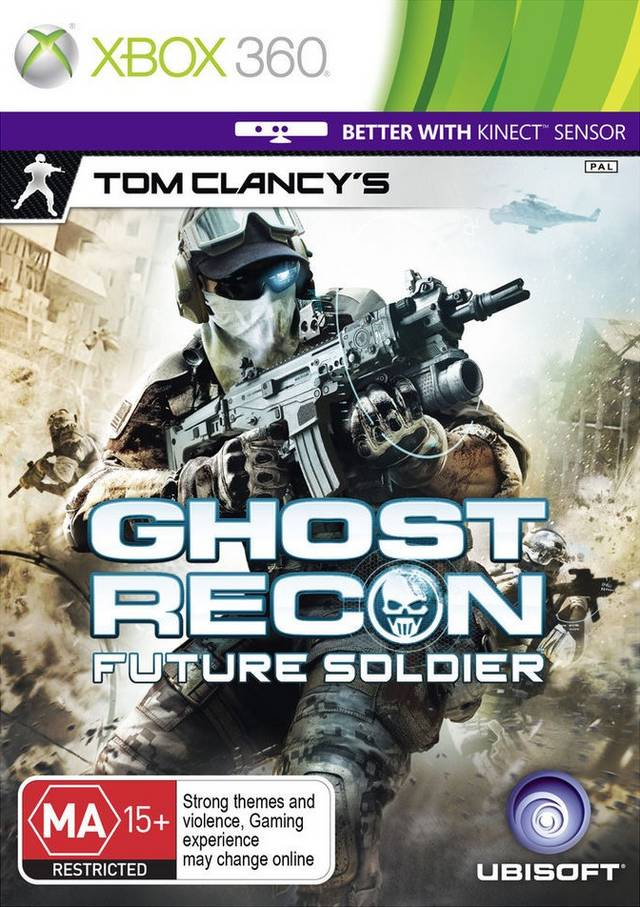 Front boxart of the game Tom Clancy's Ghost Recon - Future Soldier (Australia) on Microsoft Xbox 360
