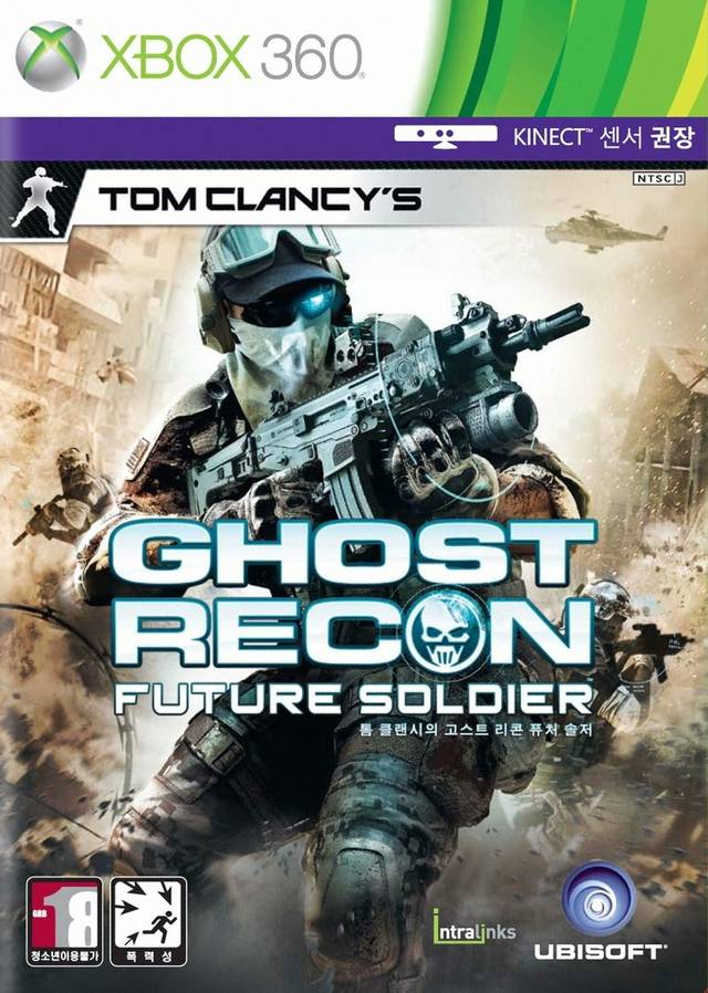 Front boxart of the game Tom Clancy's Ghost Recon - Future Soldier (South Korea) on Microsoft Xbox 360