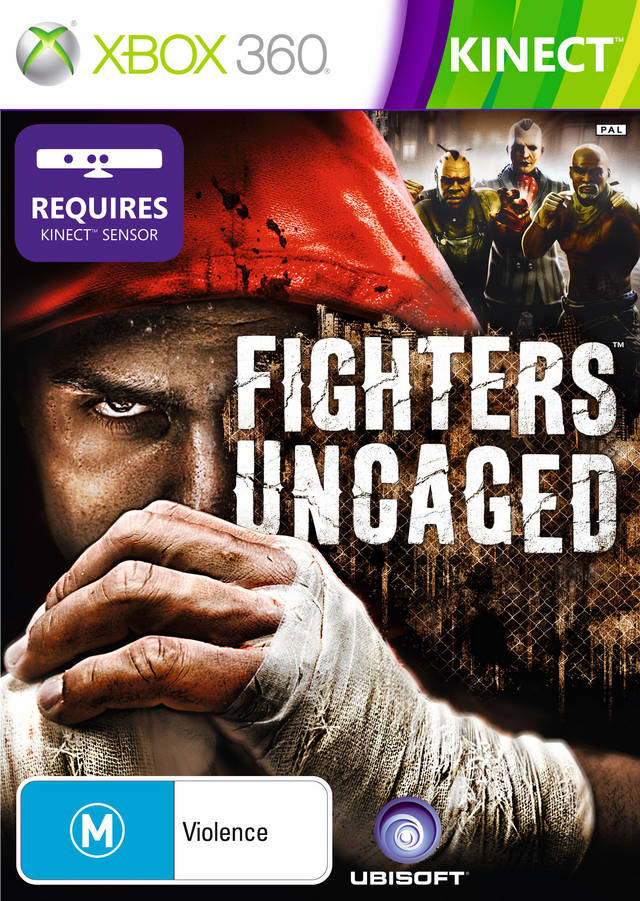 Front boxart of the game Fighters Uncaged (Australia) on Microsoft Xbox 360