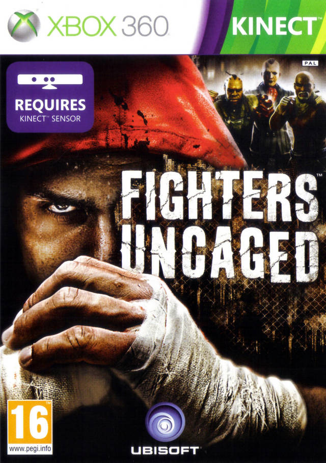 Front boxart of the game Fighters Uncaged (Europe) on Microsoft Xbox 360