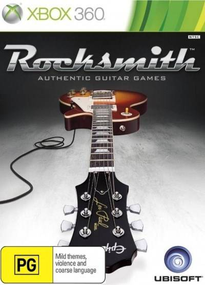 Front boxart of the game Rocksmith (Australia) on Microsoft Xbox 360