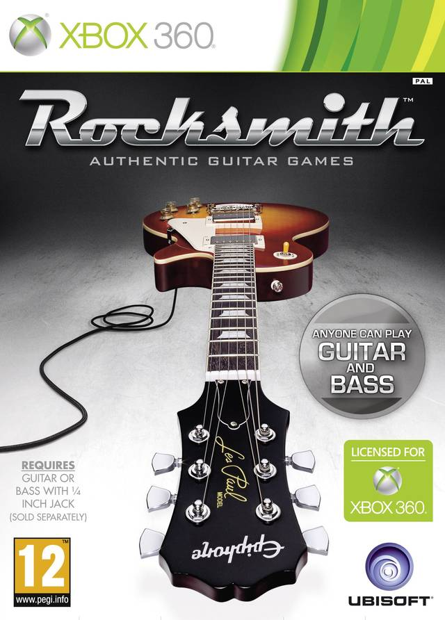 Front boxart of the game Rocksmith (Europe) on Microsoft Xbox 360