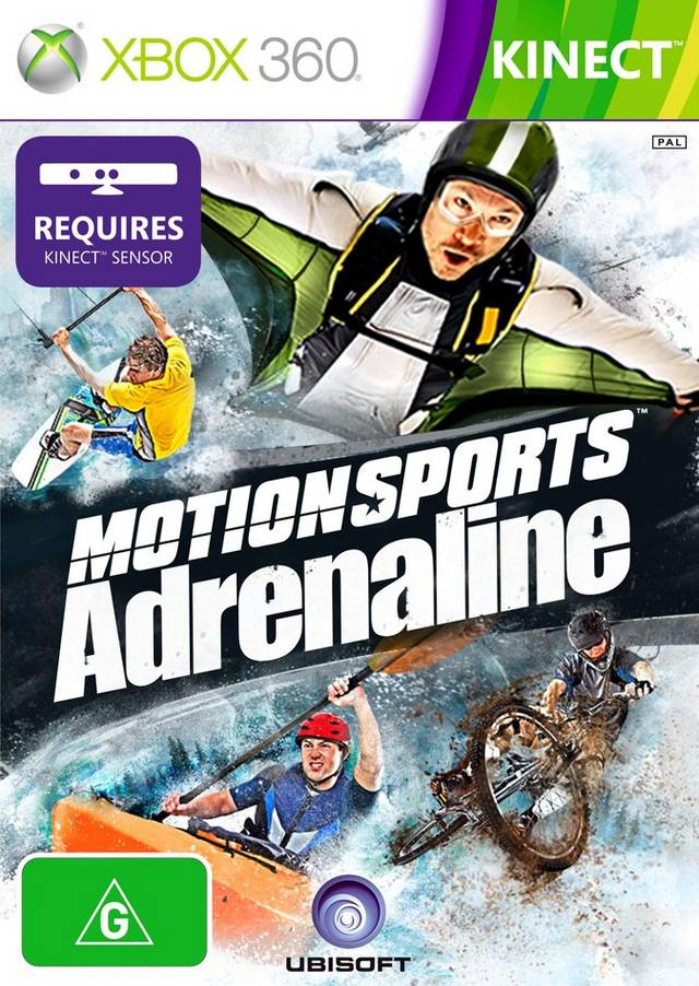 Front boxart of the game MotionSports Adrenaline (Australia) on Microsoft Xbox 360
