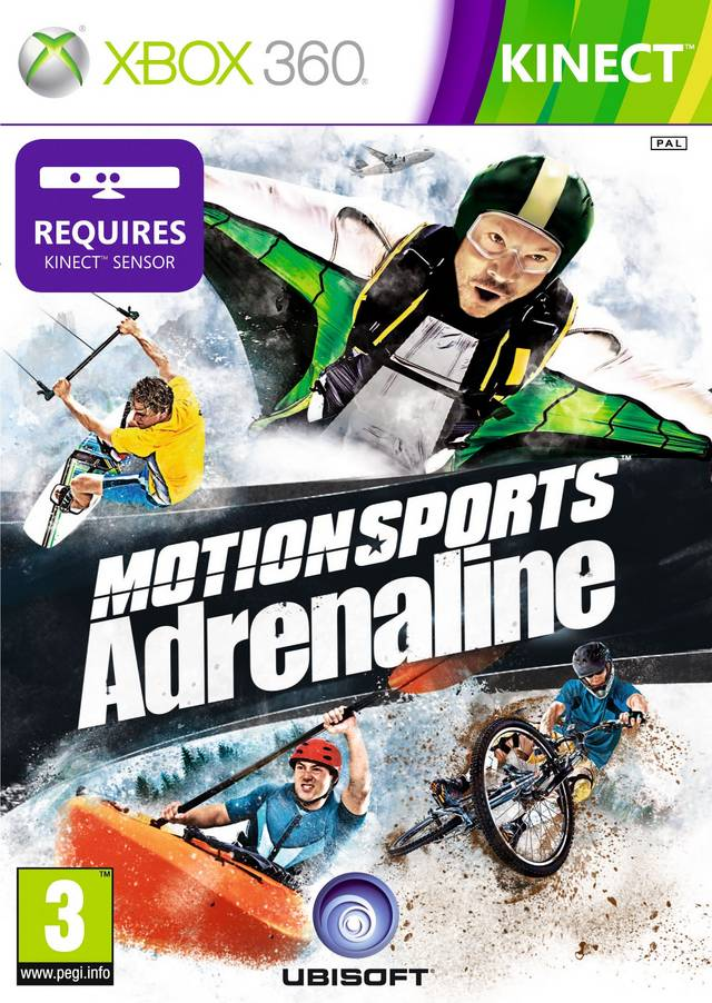 Front boxart of the game MotionSports Adrenaline (Europe) on Microsoft Xbox 360