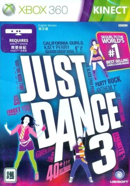 Front boxart of the game Just Dance 3 (Asia) on Microsoft Xbox 360