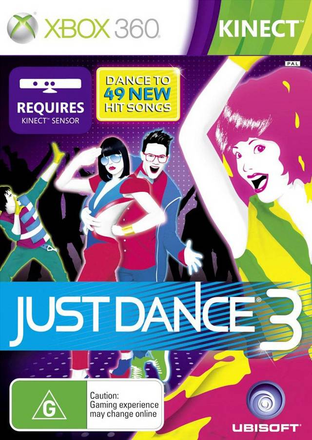 Front boxart of the game Just Dance 3 (Australia) on Microsoft Xbox 360