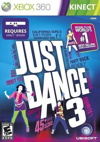 Front boxart of the game Just Dance 3 (United States) on Microsoft Xbox 360