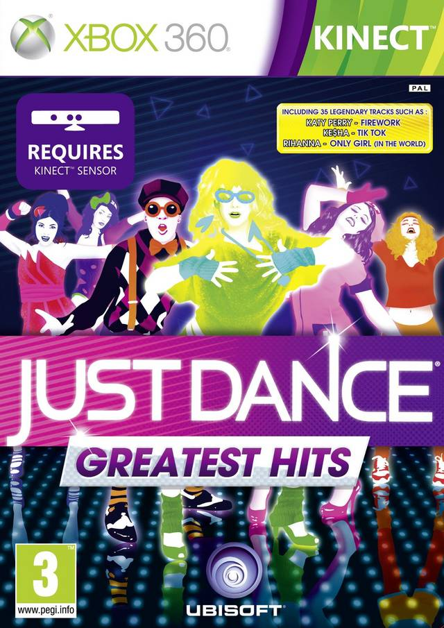 Front boxart of the game Just Dance - Greatest Hits (Europe) on Microsoft Xbox 360