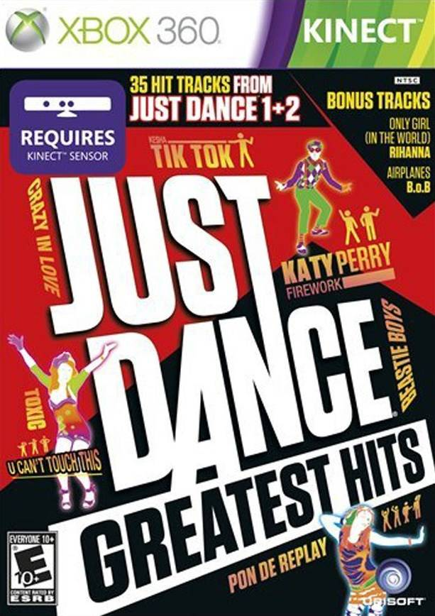 Front boxart of the game Just Dance - Greatest Hits (United States) on Microsoft Xbox 360