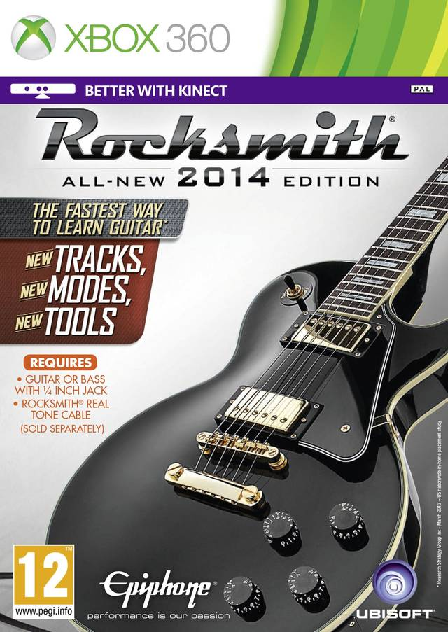 Front boxart of the game Rocksmith 2014 Edition (Europe) on Microsoft Xbox 360