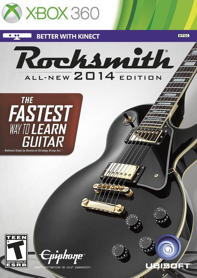 Front boxart of the game Rocksmith 2014 Edition (United States) on Microsoft Xbox 360