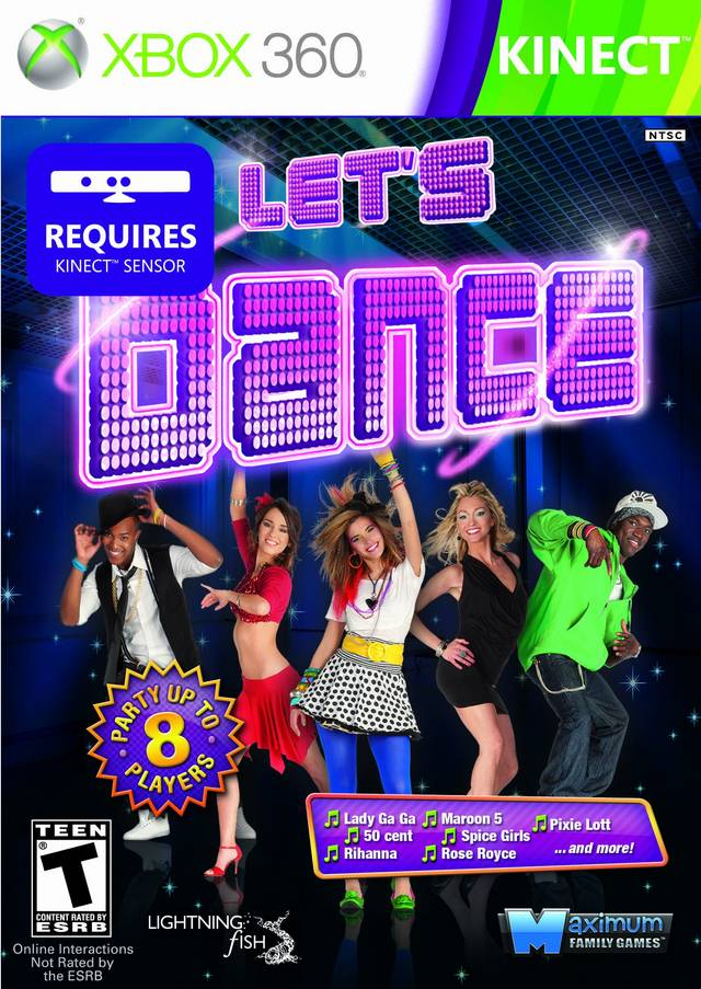 Front boxart of the game Let's Dance (United States) on Microsoft Xbox 360