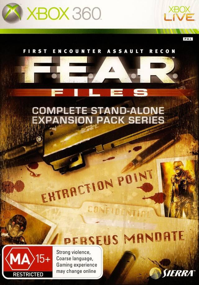 Front boxart of the game F.E.A.R. Files (Australia) on Microsoft Xbox 360
