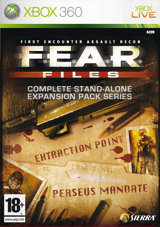 Front boxart of the game F.E.A.R. Files (Europe) on Microsoft Xbox 360