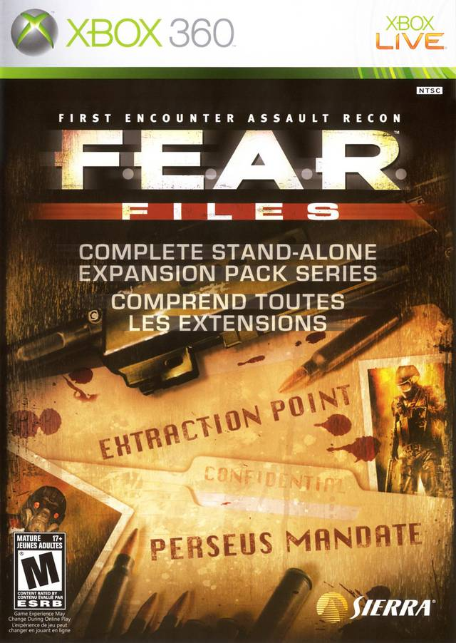 Front boxart of the game F.E.A.R. Files (United States) on Microsoft Xbox 360
