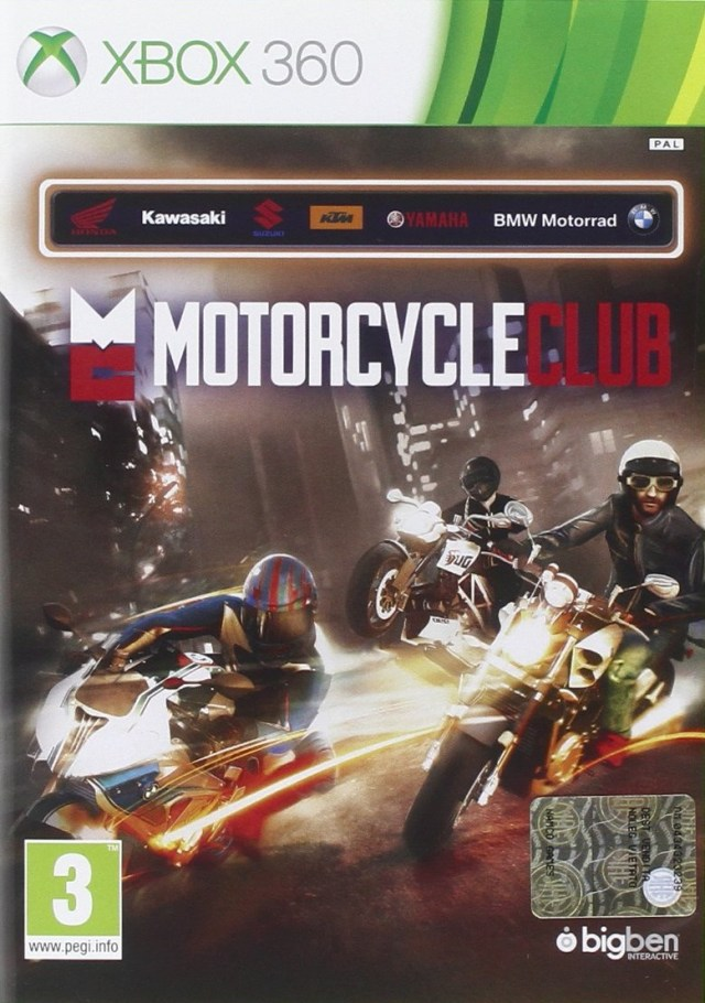 Front boxart of the game Motorcycle Club (Europe) on Microsoft Xbox 360