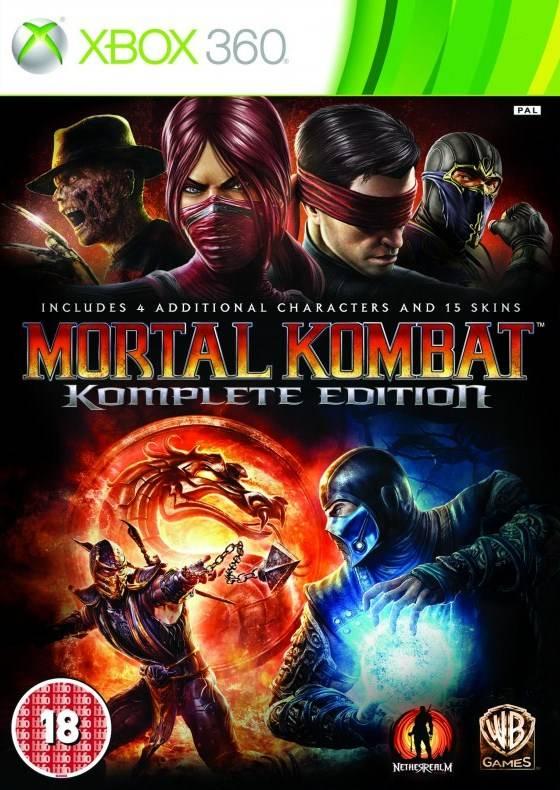Front boxart of the game Mortal Kombat Komplete Edition (Europe) on Microsoft Xbox 360