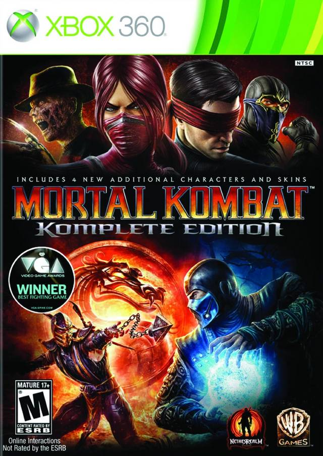 Front boxart of the game Mortal Kombat Komplete Edition (United States) on Microsoft Xbox 360
