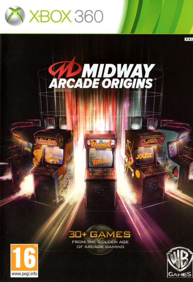 Front boxart of the game Midway Arcade Origins (Europe) on Microsoft Xbox 360