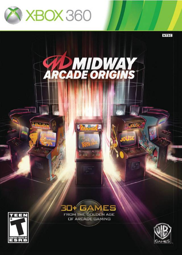Front boxart of the game Midway Arcade Origins (United States) on Microsoft Xbox 360