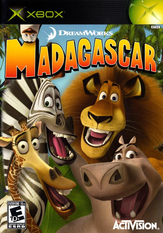 Front boxart of the game Madagascar (United States) on Microsoft Xbox