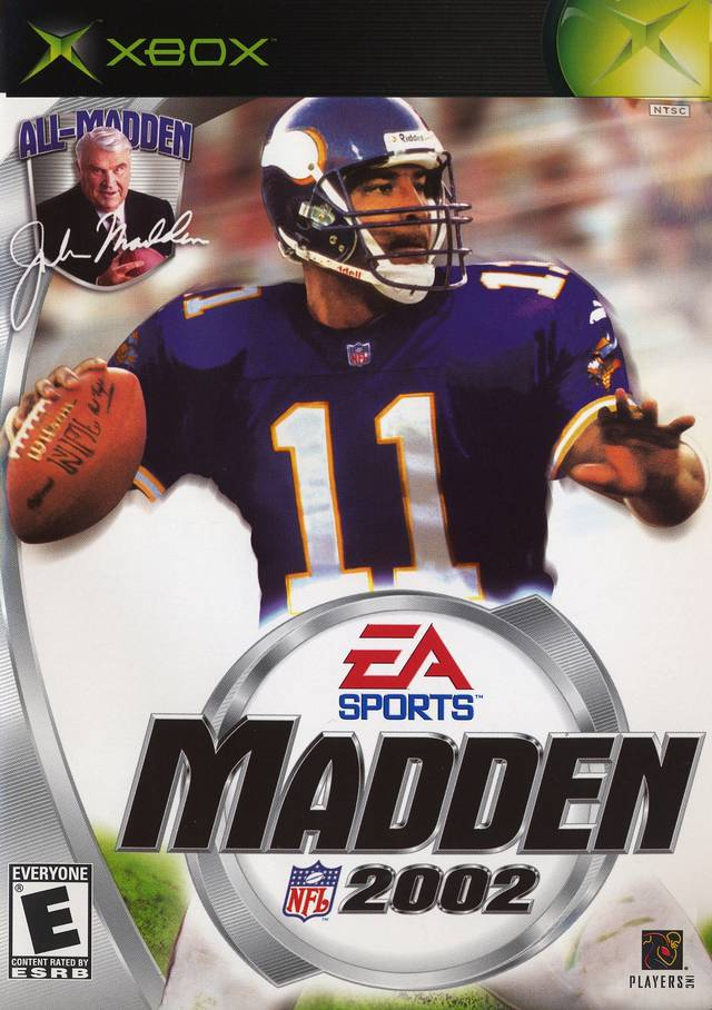 Front boxart of the game Madden NFL 2002 (United States) on Microsoft Xbox