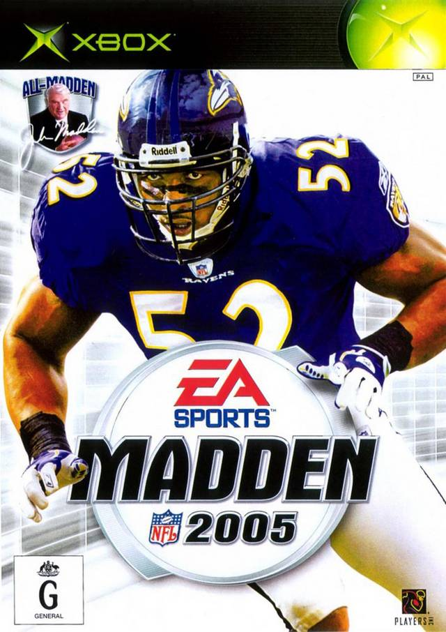 Front boxart of the game Madden NFL 2005 (Australia) on Microsoft Xbox
