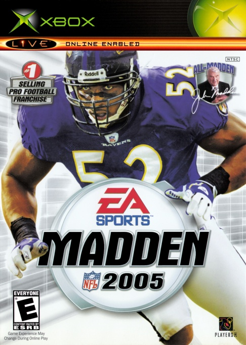 Front boxart of the game Madden NFL 2005 (United States) on Microsoft Xbox