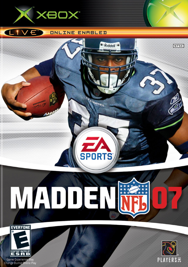 Front boxart of the game Madden NFL 07 (United States) on Microsoft Xbox
