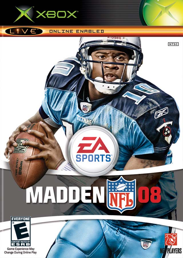 Front boxart of the game Madden NFL 08 (United States) on Microsoft Xbox