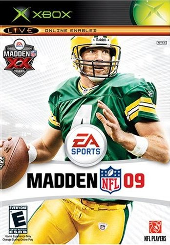 Front boxart of the game Madden NFL 09 (United States) on Microsoft Xbox
