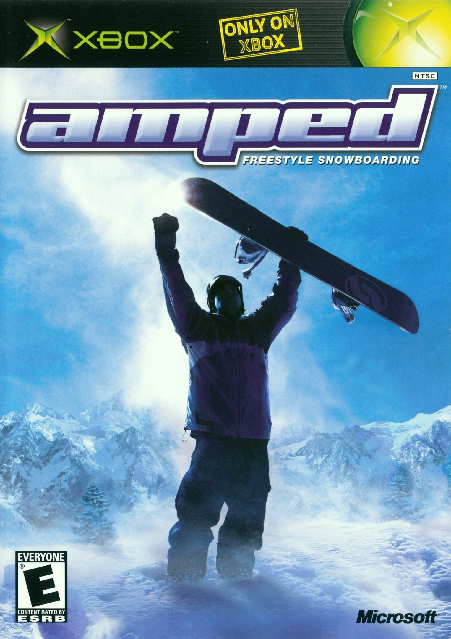 Front boxart of the game Amped - Freestyle Snowboarding (United States) on Microsoft Xbox