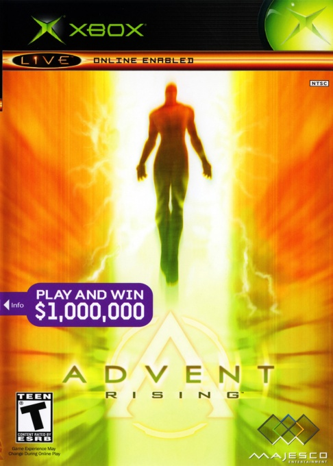 Front boxart of the game Advent Rising (United States) on Microsoft Xbox