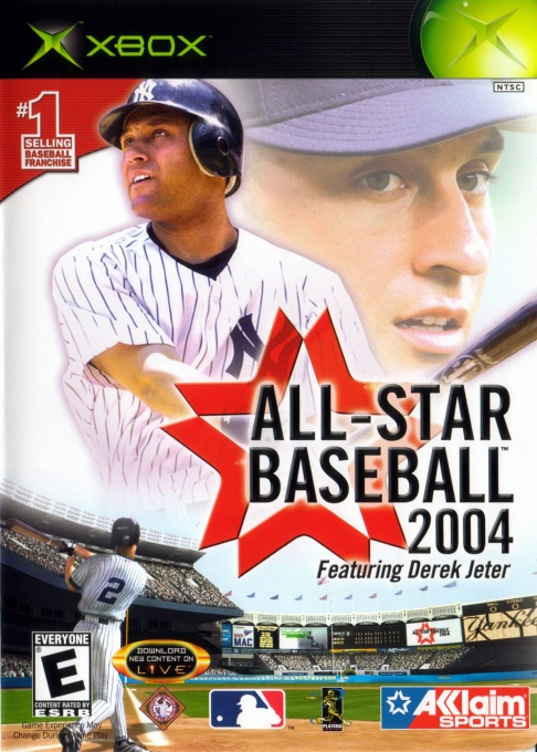 Front boxart of the game All-Star Baseball 2004 (United States) on Microsoft Xbox